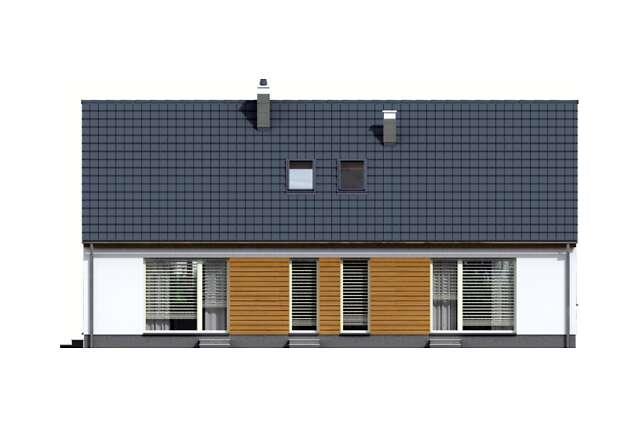 Zobacz powiększenie elewacji ogrodowej - projekt Ostenda