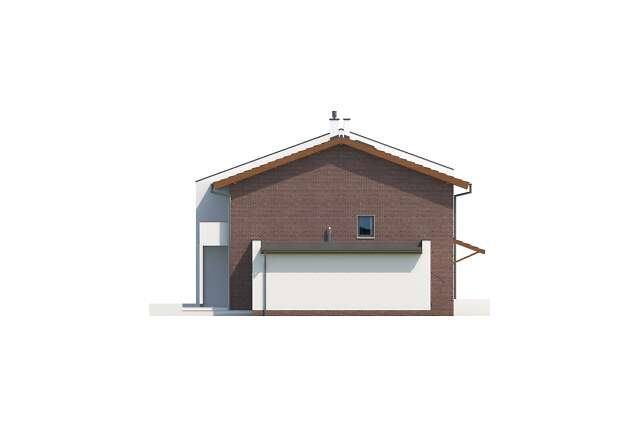 Zobacz powiększenie elewacji bocznej lewej - projekt Richmond