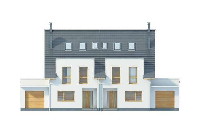 Zobacz powiększenie elewacji frontowej - projekt Winnipeg