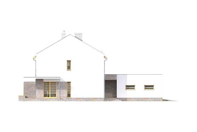 Zobacz powiększenie elewacji bocznej lewej - projekt Norwich