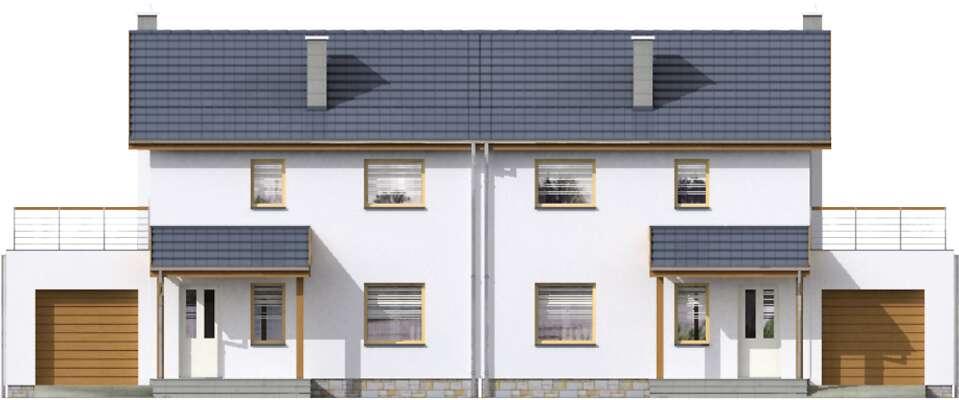Elewacja frontowa - projekt Glasgow II