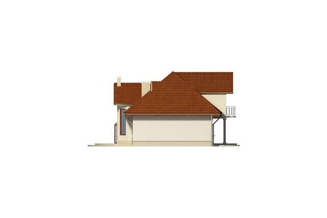 Zobacz powiększenie elewacji bocznej lewej - projekt Wersal