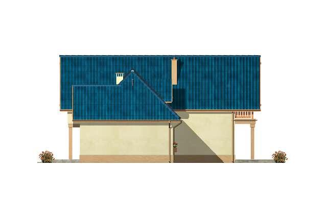 Zobacz powiększenie elewacji ogrodowej - projekt Las Vegas