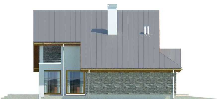 Elewacja boczna lewa - projekt Lagos II