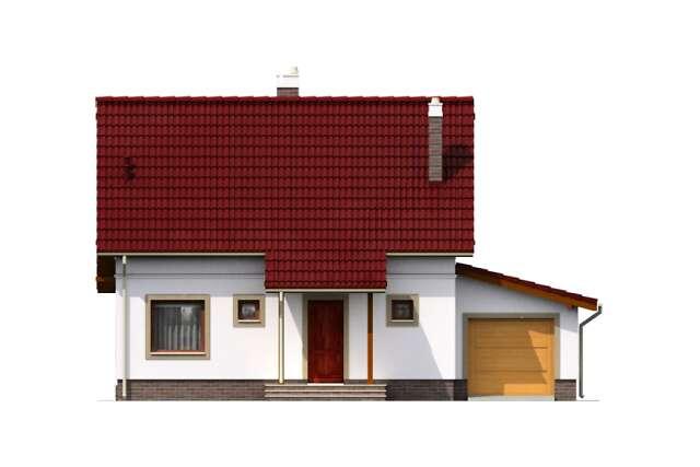 Zobacz powiększenie elewacji frontowej - projekt Brema