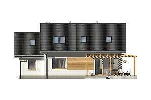 Elewacja ogrodowa - projekt Vigo IV