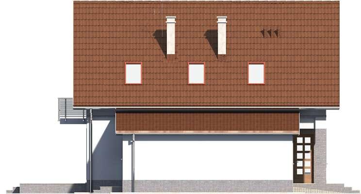 Elewacja boczna lewa - projekt Malmo II