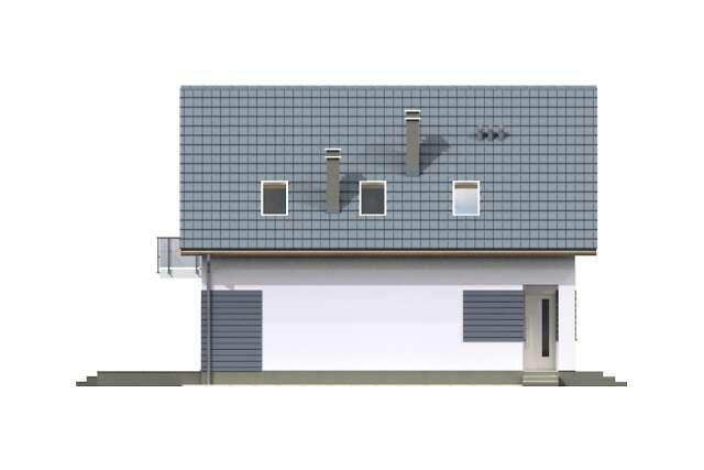 Zobacz powiększenie elewacji bocznej lewej - projekt Malmo III
