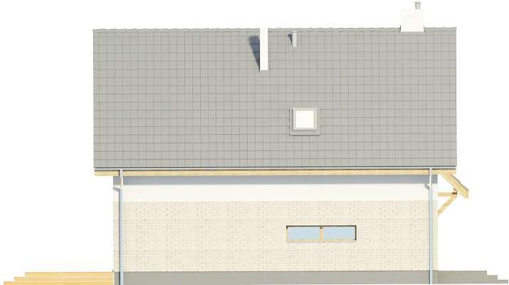 Elewacja boczna lewa - projekt Altea