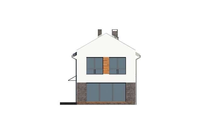 Zobacz powiększenie elewacji ogrodowej - projekt Luton