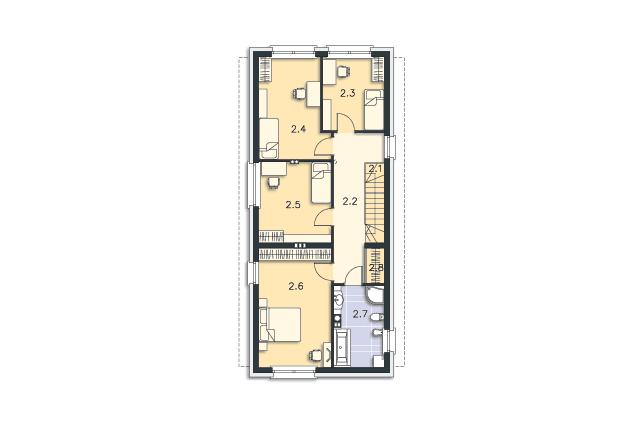 Zobacz powiększenie rzutu kondygnacji Piętro - projekt Luton