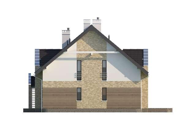 Zobacz powiększenie elewacji bocznej prawej - projekt Pensjonat Dąb 2