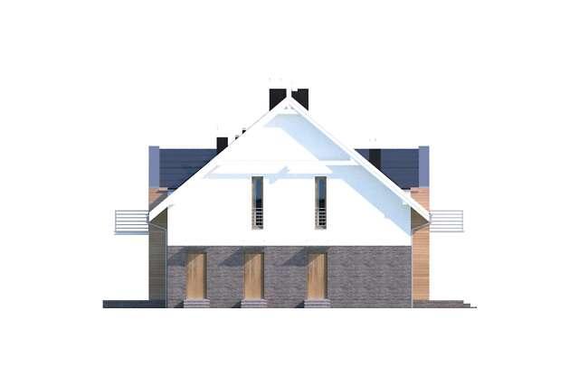 Zobacz powiększenie elewacji bocznej lewej - projekt Budynek agroturystyczny Dąb 3