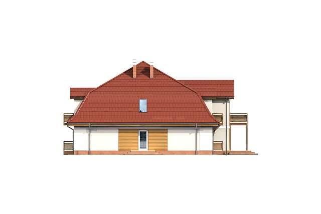 Zobacz powiększenie elewacji bocznej lewej - projekt Budynek wypoczynkowy Ambrowiec