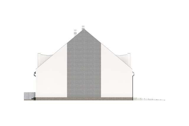 Zobacz powiększenie elewacji bocznej lewej - projekt Miltown