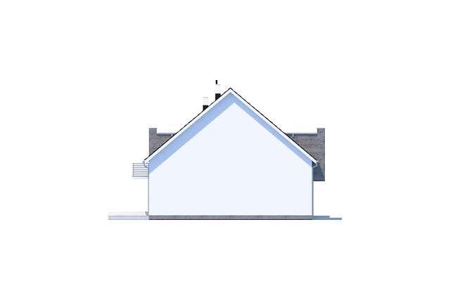 Zobacz powiększenie elewacji bocznej lewej - projekt Zurych