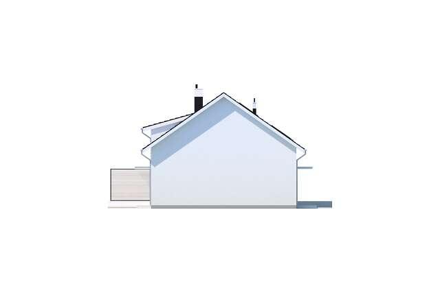 Zobacz powiększenie elewacji bocznej lewej - projekt Clermont