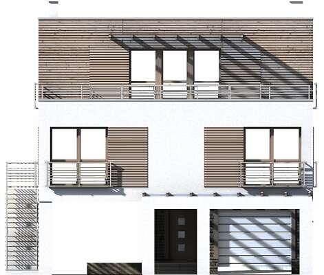 Elewacja frontowa - projekt Santorini