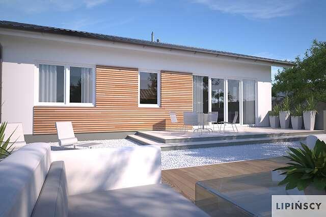 Zobacz powiększenie wizualizacji ogrodowej - projekt Oban w.drewniana